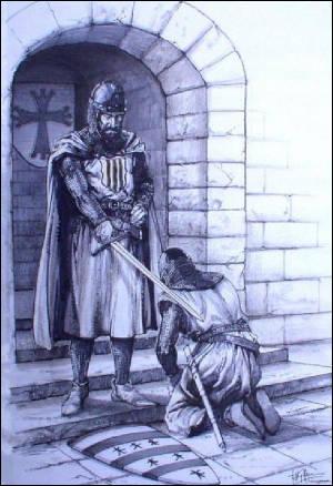 L'adoubement est la cérémonie par laquelle un homme est consacré chevalier.