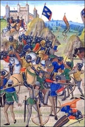 C'est au cours de la bataille de Crécy qu'apparaissent les canons.
