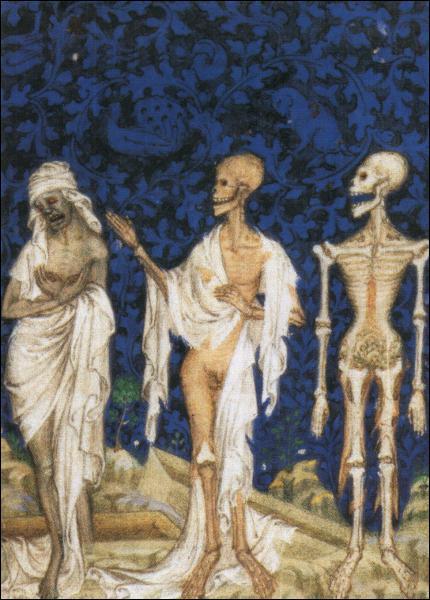 La danse macabre mêle morts et vivants dans l'art à partir du XVème siècle.