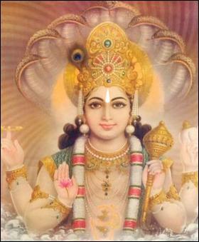 Dieu protecteur, deuxième dieu de la trinité hindoue