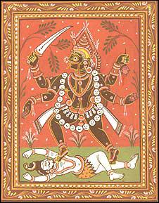 Déesse du temps, mère créatrice et destructrice, aussi femme de Shiva