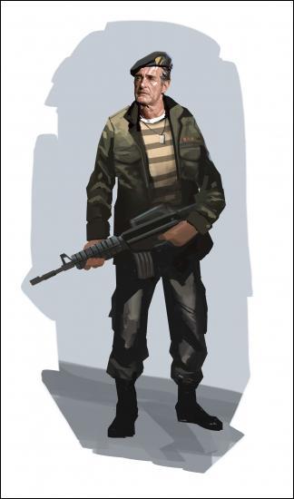 Comment s'appelle dans left 4 dead 1 le survivant commando ?