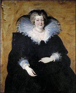 Marie de Médicis a exercé la régence durant la minorité de Louis XIII de 1610 à 1617. Puis elle ...