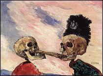 Squelettes se disputant un hareng saur