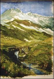 Dans la comptine 'La haut sur la montagne' que s'y trouvait-il de 'vieux' ?