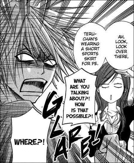 Dans quel tome, Riko dit ceci : ''Ah ! Regarde sur le stade ! Teru s'entraîne en culotte de sport ! '' ?