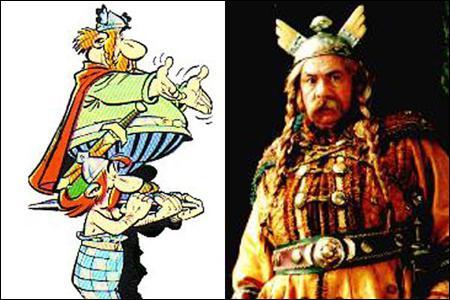 Qui interprète le Chef Abraracourcix dans' Astérix et Obélix contre César' ?
