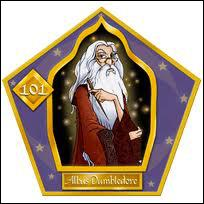 Harry a une carte de chocogrenouille pour lui.