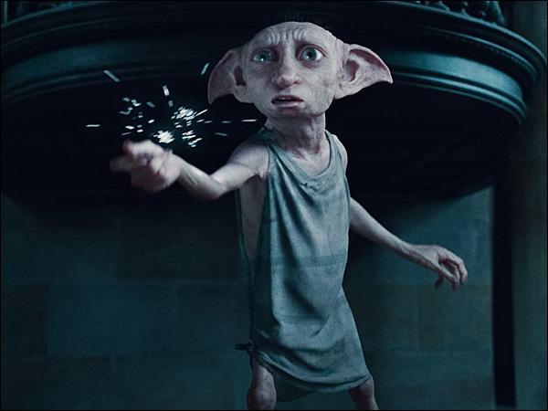 Dans le Manoir des Malefoy, Dobby sauve Harry et ses amis et désarme Narcissa. De quoi Bellatrix traîte alors cet elfe ?