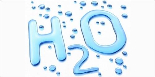 Dans la formule H2O, que représente le H ?