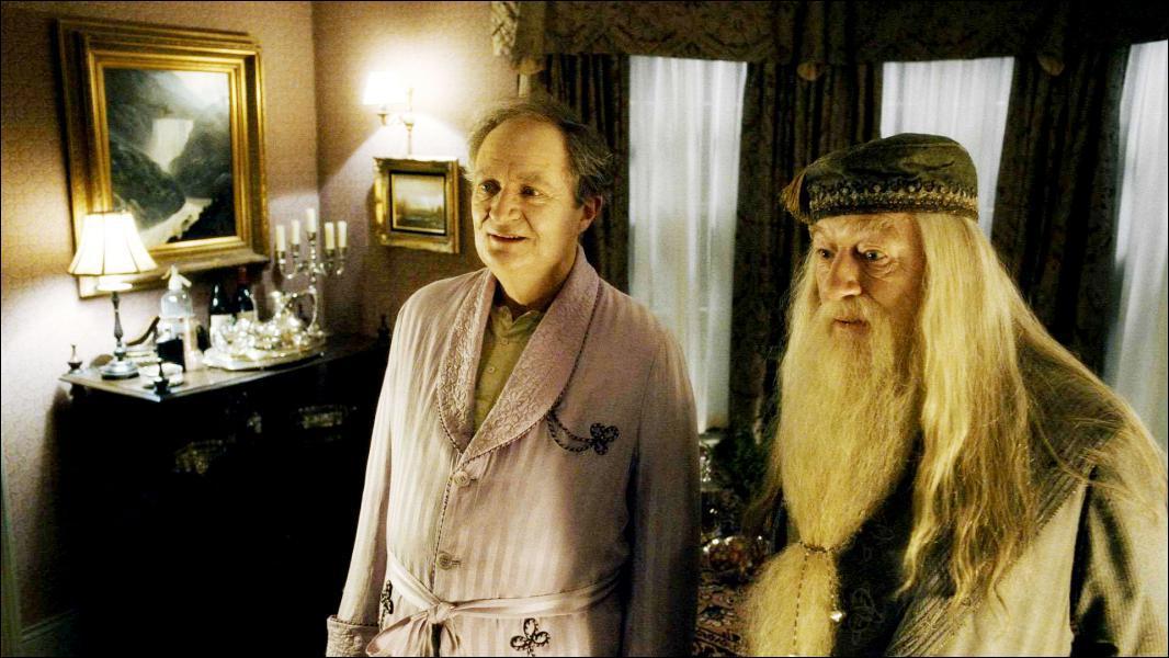 Quand Dumbledore et Harry rendent visite à Slughorn, après que tout soit rentré dans l'ordre, Horace prend un objet sur un buffet afin de l'examiner. Quel est cet objet ?