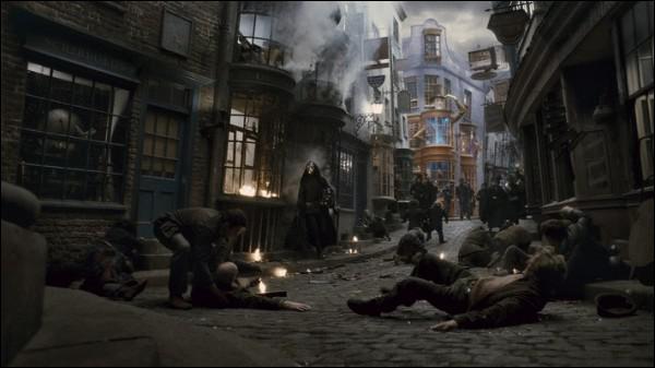 En ces temps de troubles, il y a beaucoup de marchands illégaux sur le Chemin de Traverse. Que vendait un de ceux-ci lorsque les Weasley, Harry et Hermione sont allés acheter les nouvelles fournitures ?