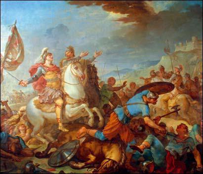 Avant Clovis, quels animaux sont sacrifiés à la mort des rois francs ?