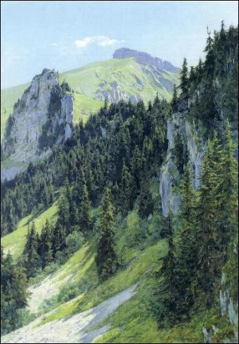Voici 'La Tour d'Aï', dans le canton de Vaud; mais d'où vient la lumière dans ce paysage de montagne ? (CLIQUEZ sur l'image)