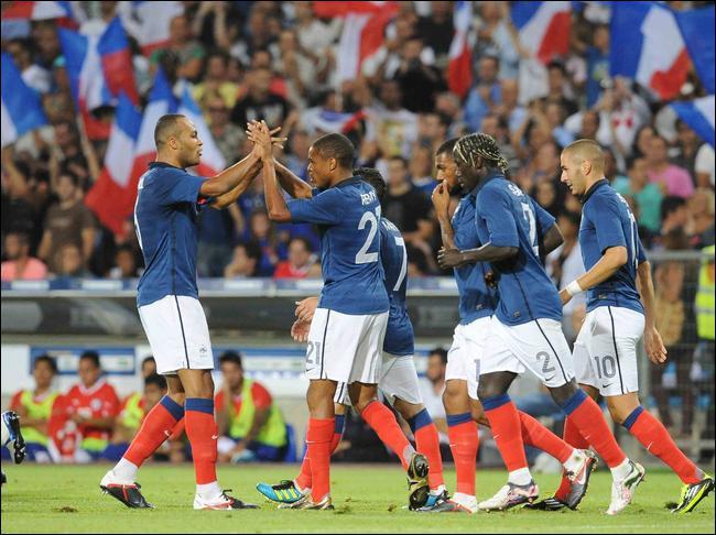 Où s'est déroulé France-Chili (1-1) en août 2011 ?