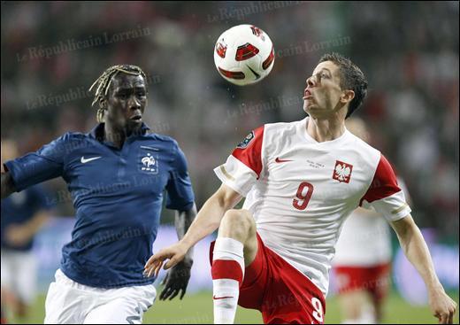 Qui a marqué l'unique but de la rencontre Pologne-France ?