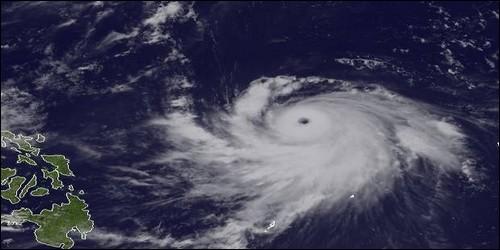 Les typhons se forment au-dessus :