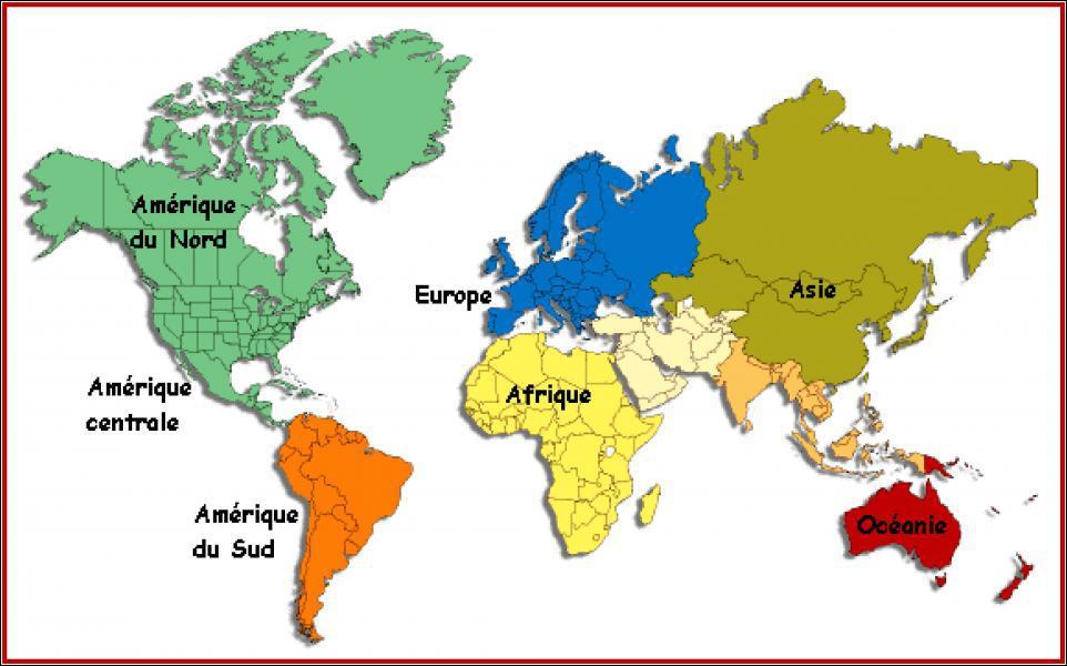Quel est le plus petit de ces trois continents ?