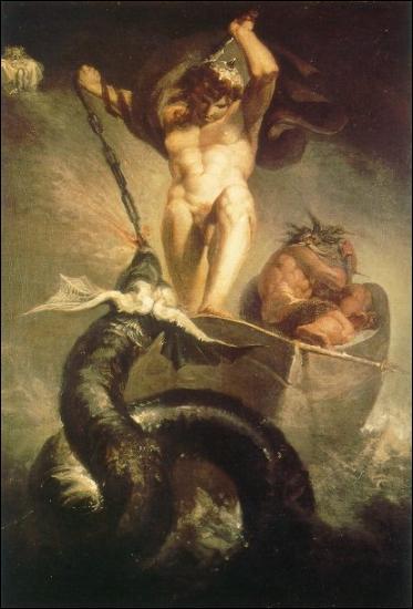 Frère des deux précédents, Jormungan est un monstre qui vit aux fond des eaux et entoure le monde pour assurer sa stabilité. Jormungan est plus précisément... ?