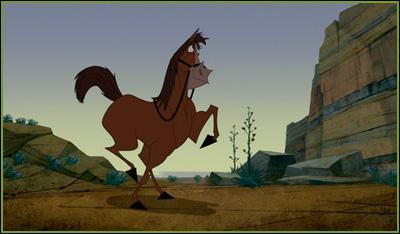 Quel est le nom du cheval dans la Ferme se rebelle (Disney)