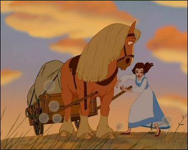 Comment s'appelle le cheval de Maurice, dans la Belle et la Bête (Disney)