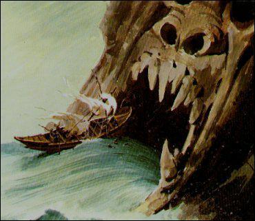 J'ai volé à Héraclès une partie du troupeau de Géryon et me suis faite transformer en gouffre marin par Zeus pour cette faute. Qui suis-je ?