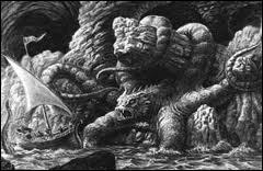 Je suis une nymphe qui fut transformée en un monstre qui mange les marins qui passent devant moi. Qui suis-je ?