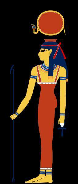 Quelle divinité égyptienne est représentée munie de cornes de taureau ?