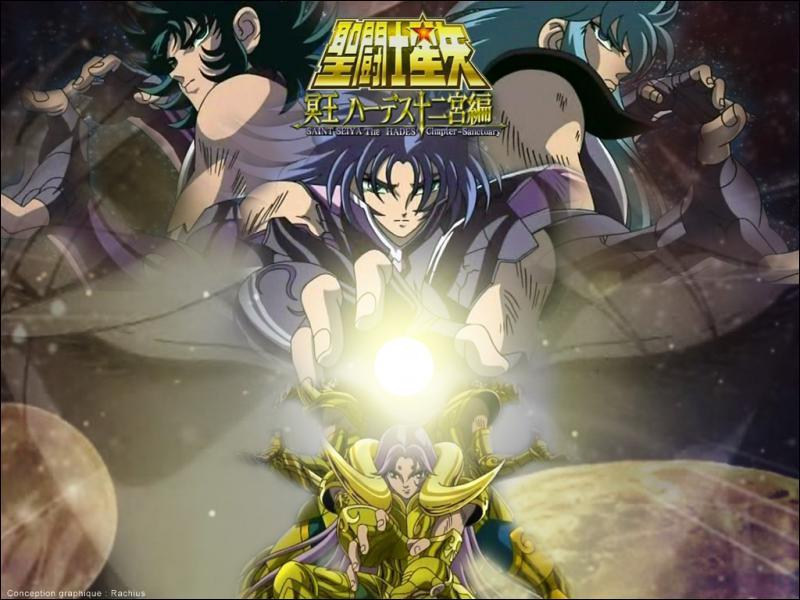 Qui sont ces trois chevaliers d'or ? (en haut)