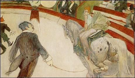 Henri de Toulouse-Lautrec : 'Au cirque ... : l'écuyère'.