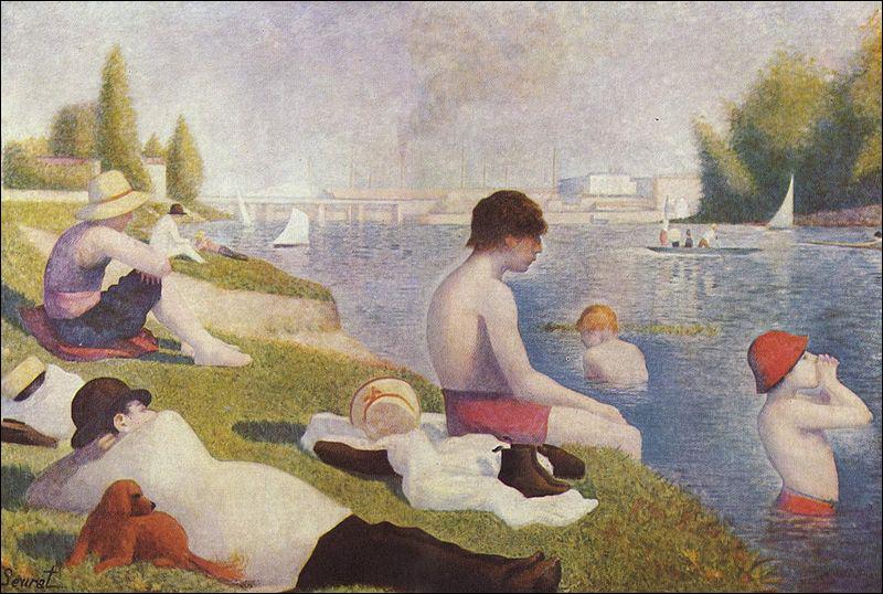 Georges Seurat : 'Une baignade, ... '.