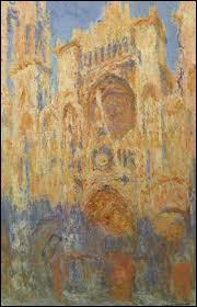 Claude Monet : 'La cathédrale de ... : effet de soleil couchant'.