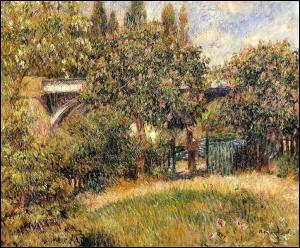Auguste Renoir : 'Pont du chemin de fer à ... '.