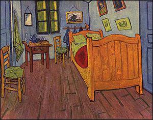 Vincent Van Gogh : 'La chambre ... '.