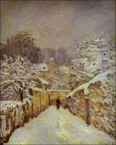 Alfred Sisley : 'La neige à ... '.
