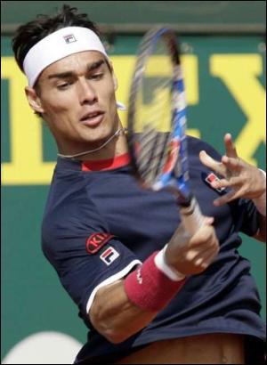 Cet Italien est arrivé en 1/4 à Roland-Garros, c'est ?