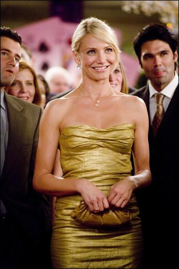 Dans quelle comédie romantique, dans laquelle elle épouse sans le faire exprès Ashton Kutcher, Cameron Diaz porte-t-elle cette robe clinquante ?