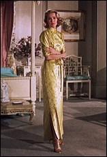 Dans quel film, le dernier de sa carrière d'actrice, peut-on voir Grace Kelly arborer cette belle robe satinée ?