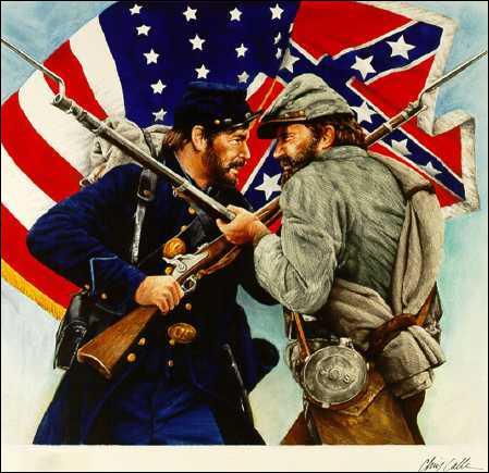 Entre quelle année, la guerre de Sécession ( ou ' The Civil War ' ) est-elle survenue ?