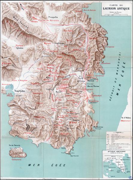 Où se situe les Mines du Laurion ?