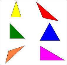 Géométrie : laquelle de ces définitions correspond à un triangle isocèle ?