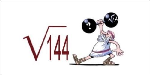 Quelle est la racine carrée de 144 ?