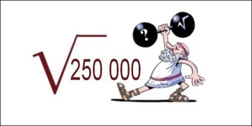 Quelle est la racine carrée de 250 000 ?