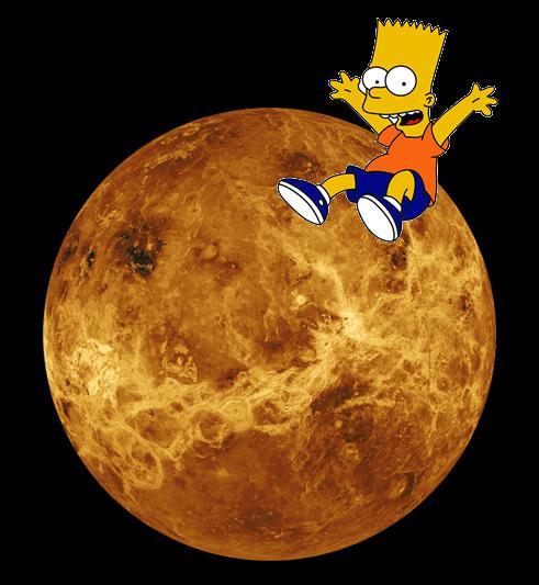Bart a choisi la planète la plus chaude, où il va pouvoir peser 90 fois son poids !
