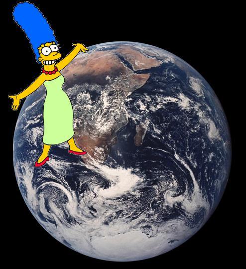 La planète de Marge, comme elle, a donné la vie. Sa révolution autour du soleil est de 365 jours !