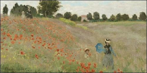 Quelle fleur Claude Monet a peint sur de nombreux tableaux de champs ?