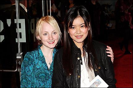 Quelles actrices incarnent respectivement Luna Lovegood et Cho Chang ?