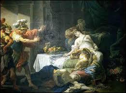 Que fait Antoine lorsqu'il apprend le faux suicide de Cléopâtre ?