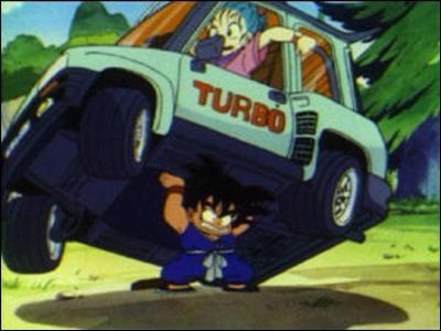 Quand Sangoku a fini de pêcher, une fille arrive en voiture et Sangoku pensait que c'était un monstre. Qui est-ce ?