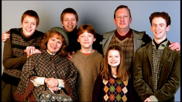 Comment s'appellent les parents de la famille Weasley ?